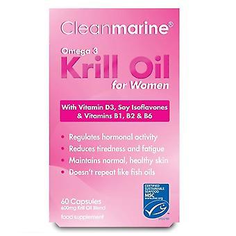 Huile de krill cleanmarine pour femmes 600mg Gelcaps marins 60 (NLF053)
