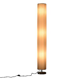 HOMCOM 160 CM Tall Modern Free Standing Floor Lamp for Bedroom, Study or Living Space with Polyester Fabric  Shade White