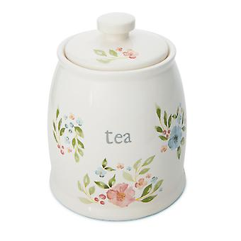 Cooksmart Country Floral Tea Canister