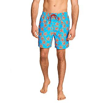 Zoggs Men Starfish Swim Shorts - Turquoise/Multi