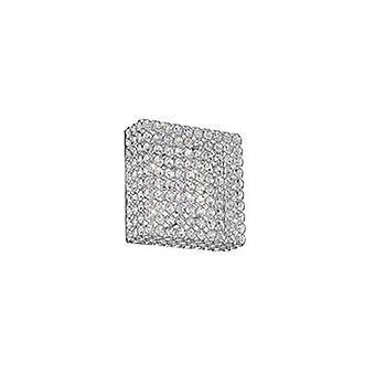 4 Light Small Square Ceiling Flush Light Chrome