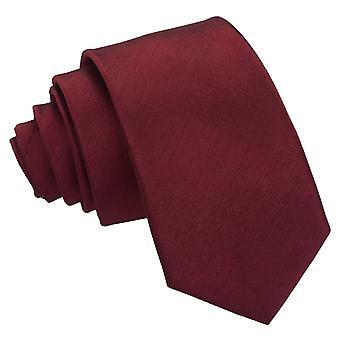 Viininpunainen Plain shantung Slim solmio