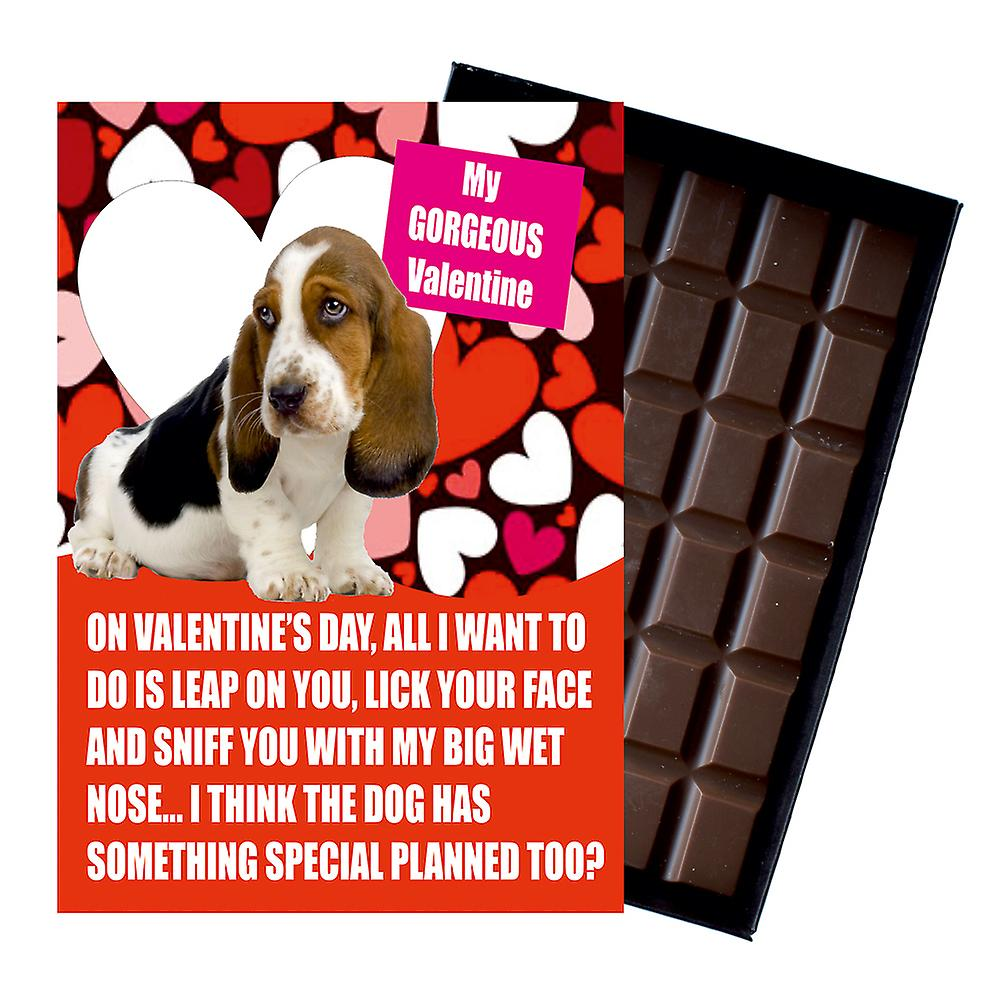 Bassett Hound Gift for Valentines Day Presents For Dog Lovers Boxed Chocolate