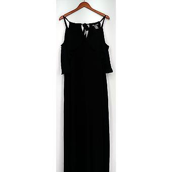 Kate & Mallory jurk Sleevels Maxi met koude schouder Ruffle zwart A429663