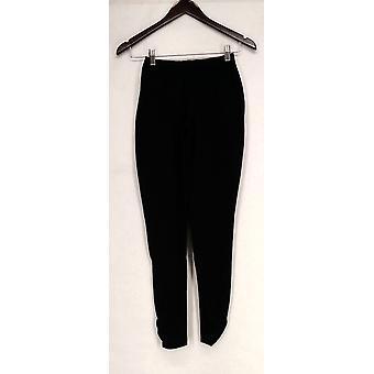 Women w/ Control Pants XXS Regular Ruched Black Leggings A267805