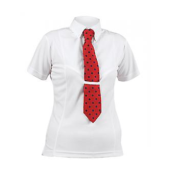 Shires Childrens Short Sleeve Tie Shirt - White