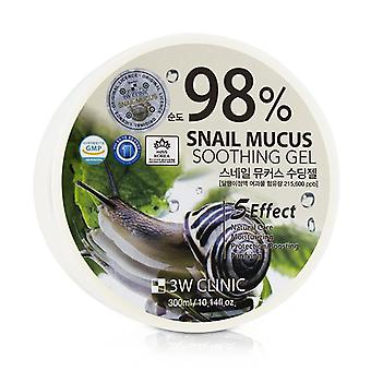 3w Clinic 98% Snail Mucus Soothing Gel - 300ml/10.14oz