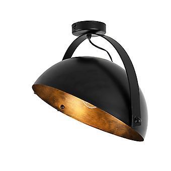 Lampada da soffitto industriale QA-QA nero con inclinazione oro - Magna