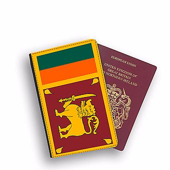 SRI LANKA Flag Passport Holder Style Case Cover Protective Wallet Flags design