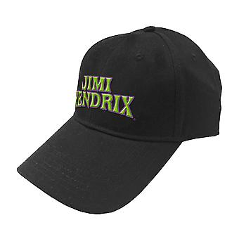 Jimi Hendrix Baseball Cap Arched 3D Logo new Official Black Strapback