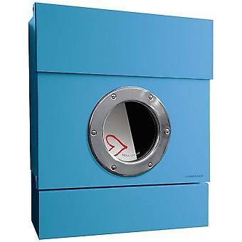 PROMIEŃ Letterman 2 włącznie z gazety rolę niebieski letterbox 505n