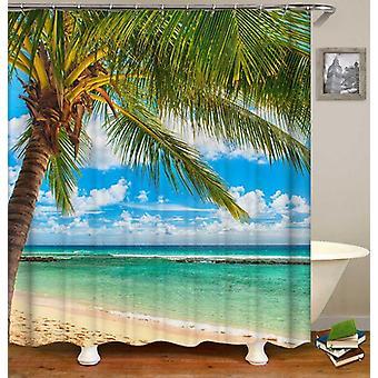 Sunny Beach Day Shower Curtain
