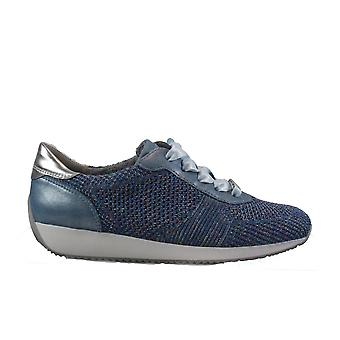 Ara Fushion 4 224027-23 Blue Womens Lace Up Trainers
