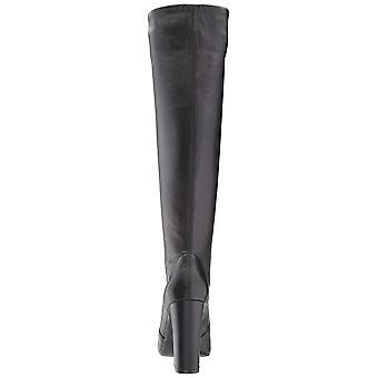 Steve Madden Womens Eton cuir amande Toe haute couture bottes