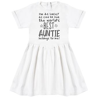 I'm As Lucky As Can Be Best Auntie belongs to me! Baby Dress
