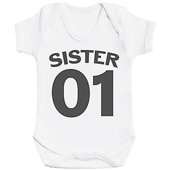 Brother & Sister Numbers - Matching Kids Set - Baby Bodysuits - Gift Set