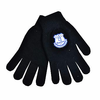 Everton FC Official Mens Football Crest Knitted Gloves