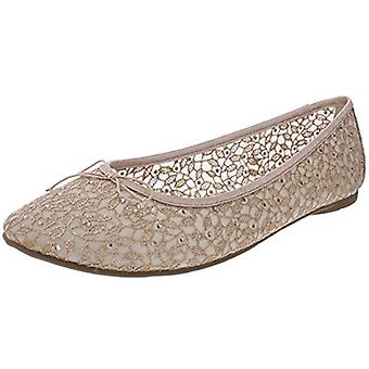 Adrianna Papell Womens Shirley Dress Studded Ballet Flats Gold 9 Medium (B,M)