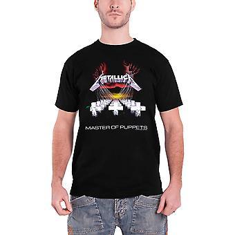 Metallica T Shirt Master of Puppets Album Tracks Official Mens New Black