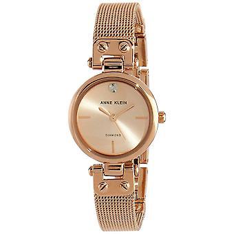 Anne Klein AK-N3002RGRG Watch - Diamond Steel Bracelet Dor Pink Bo tier Aluminium Dor pink Women