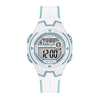 Tekday 654680 Uhr - Junior Digital Silikon weiß blau Farbe