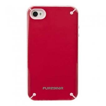 Funda PureGear Slim Shell para iPhone 4/4S - Ruibarbo de fresa