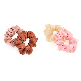 Two Piece Elasticated Scrunchie Set various Colours