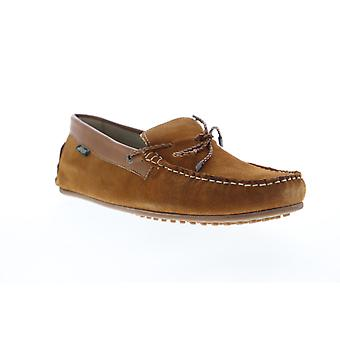 G.H. Bass Tobby Suede Leather Mens Brown Casual Slip On Boat Shoes