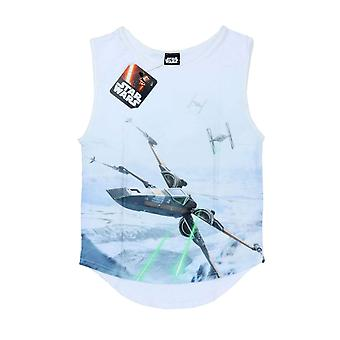 Virallinen Naisten Star Wars Liivi Top X-Siipi Fighter Escape New White Sub Väriaine