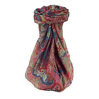 التوت الحرير التقليدي ة ساحة وشاح شروتي سكارليت من قبل باشمينا والحرير