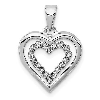 925 Sterling Gümüş Cilalı Rodyum kaplama Diamond Love Heart Kolye Takı Takı Takı Lar Kadınlar için