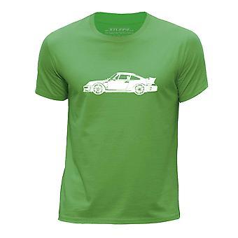 STUFF4 Boy's Round Neck T-Shirt/Stencil Car Art/CTR2 Side/Green