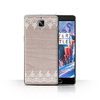 STUFF4 Case/Cover for OnePlus 3/3T/Fine Trim/Border/Fine Lace Wood