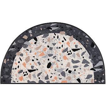 wash+dry doormat Round Terrazzo 50 x 85 cm semi-circular mat