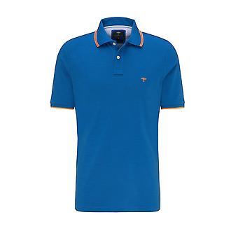 Fynch-Hatton Fynch Hatton Contrast Polo Shirt Royal/mandarin