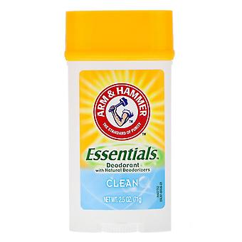 Arm & hammer essentials deodorant, clean, 4.5 oz