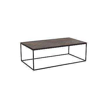 Mesa de café leve e viva 120x65x40cm Chisa Wood Brown-Black