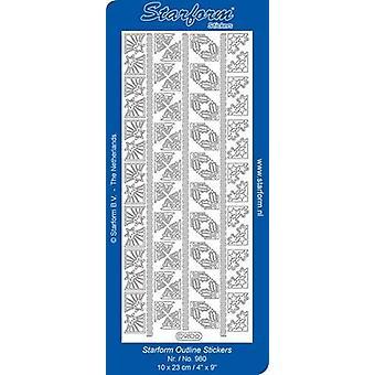 Starform Stickers Corners 19: Christmas (10 Sheets) - Gold - 0980.001 - 10X23CM