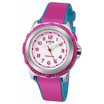 Limit Kids Active Pink Resin Strap White Dial 5599 Watch