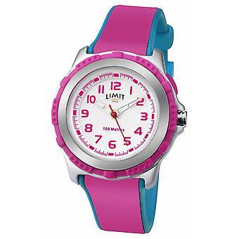 Limit Kids Active Pink Hars Strap White Dial 5599 Horloge