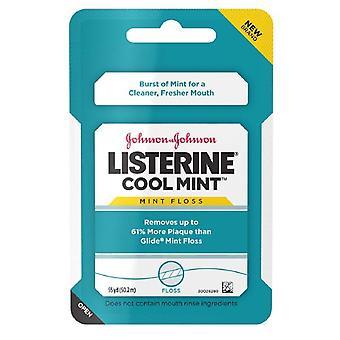 Fil de soie dentaire Listerine, menthe fraîche, 55 yards
