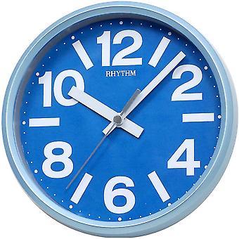 Rhythm 7890/5 Wall clock table clock Quartz analog blue round quiet without ticking