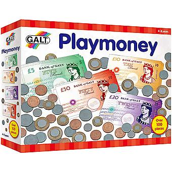 Galt Playmoney Låtsas Spela mynt och anteckningar