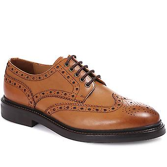 Jones Bootmaker Mens George Leather Derby Brogues