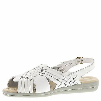 Softspots Womens Tela Leather Peep Toe Casual Strappy Sandals