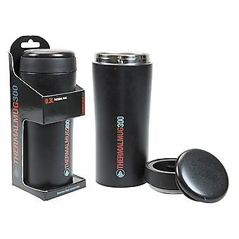 Top 300ml Thermal Commuter Mug & Lid Stainless Steel Double Walled - Zwart