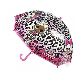LOL Surprise! Childrens/Kids Leopard Stick Umbrella