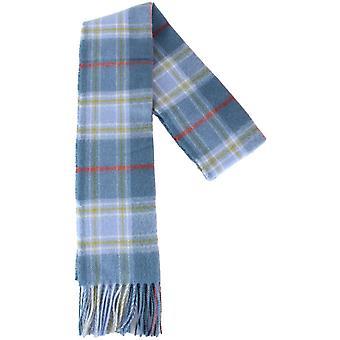 Locharron of Scotland Musselburgh Lambswool Scarf - Blue/White/Yellow