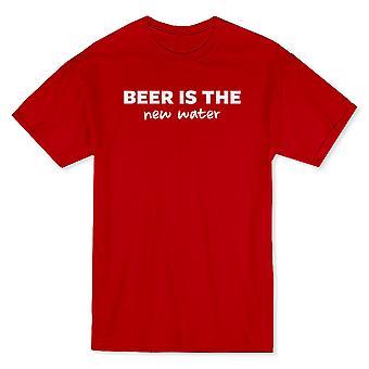 «La bière est la nouvelle eau» citation drôle T-shirt homme