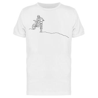 Single Line Motocross Tee Men's -Bild von Shutterstock